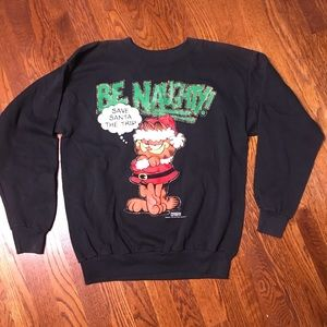 Vtg Garfield Christmas crewneck sweatshirt
